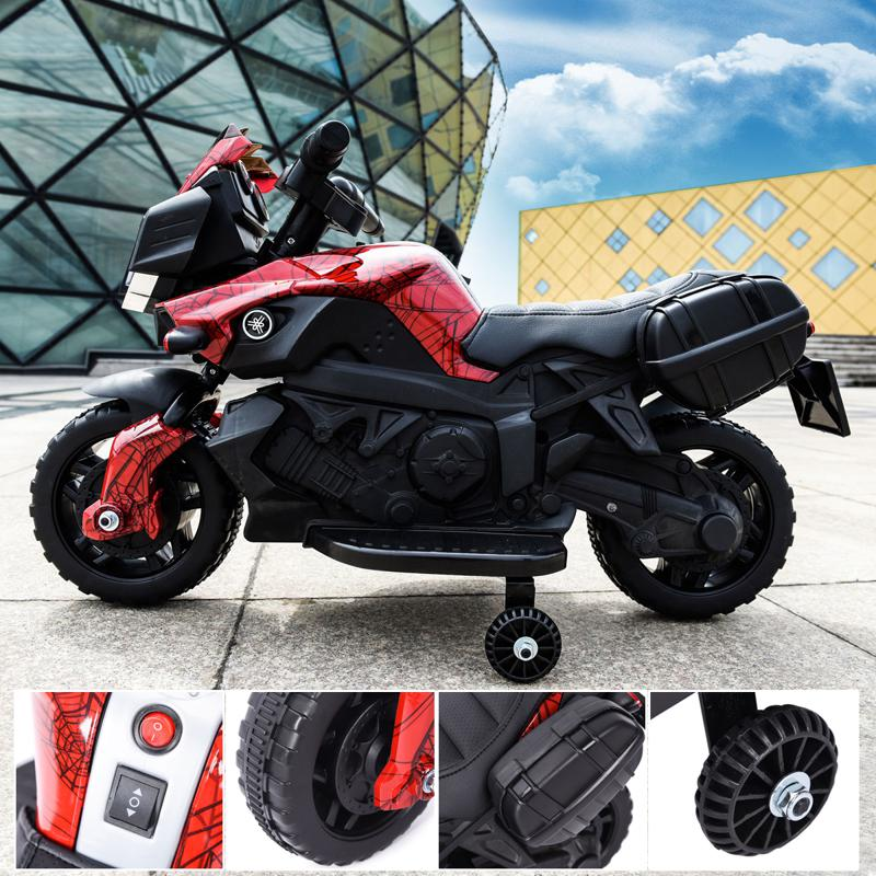 6V Red Motorcycle toy for Kids W/ Toolbox kids ride on motorcycle for kids aged 37 60 months white 15 2