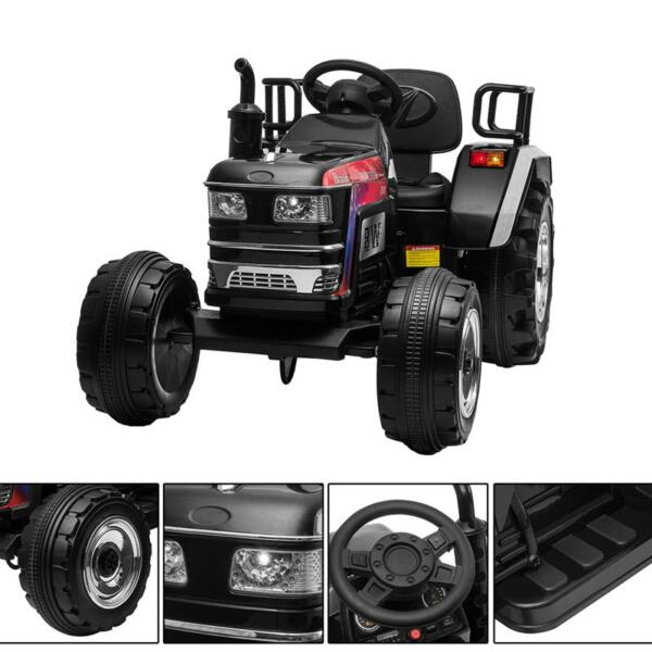 Kids Ride On Tractor with Remote Control, Black kids ride on tractor with remote control black 17