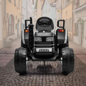 Home kids ride on tractor with remote control black 19 kids electric cars