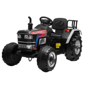 Home kids ride on tractor with remote control black 2 kids electric cars