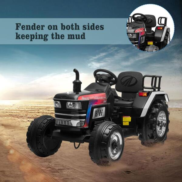 Kids Ride On Tractor with Remote Control, Black kids ride on tractor with remote control black 22