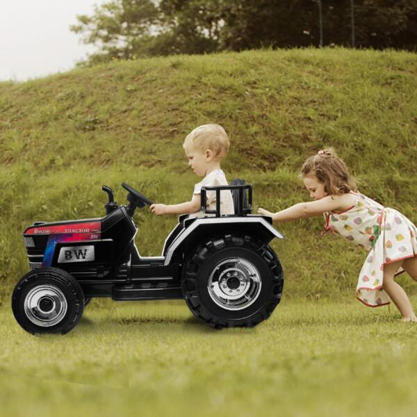 Kids Ride On Tractor with Remote Control, Black kids ride on tractor with remote control black 25