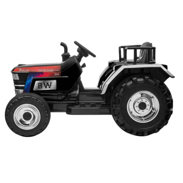 Kids Ride On Tractor with Remote Control, Black kids ride on tractor with remote control black 4