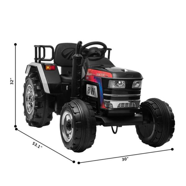 Kids Ride On Tractor with Remote Control, Black kids ride on tractor with remote control black 6 1