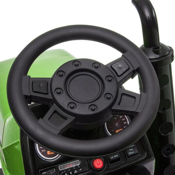 Kids Ride On Tractor with Remote Control, Green kids ride on tractor with remote control green 11