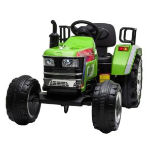 Home kids ride on tractor with remote control green 2 kids electric cars