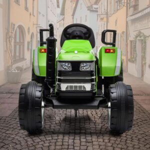 Home kids ride on tractor with remote control green 25 kids electric cars