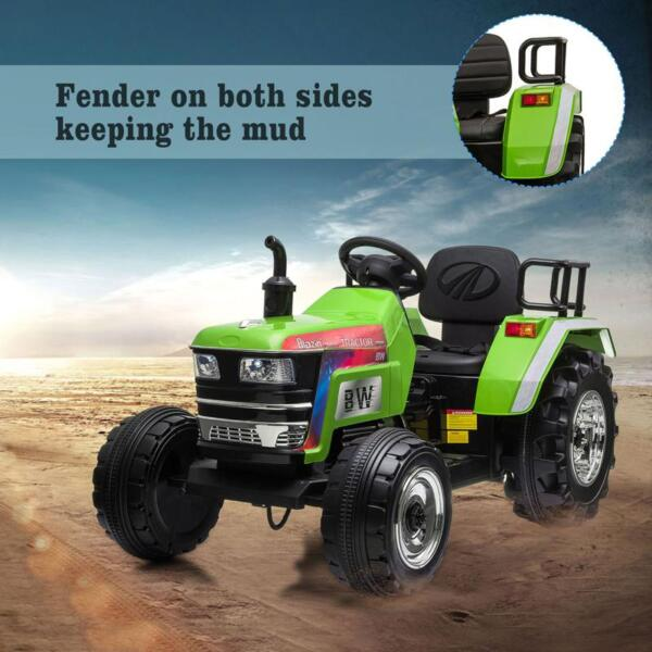 Kids Ride On Tractor with Remote Control, Green kids ride on tractor with remote control green 29