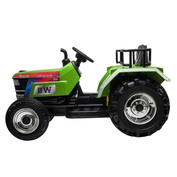 Kids Ride On Tractor with Remote Control, Green kids ride on tractor with remote control green 4
