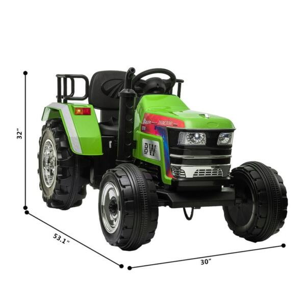 Kids Ride On Tractor with Remote Control, Green kids ride on tractor with remote control green 8 1