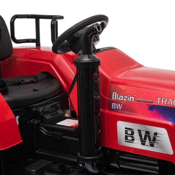 12V Kids Ride On Tractor with Remote Control for 3-6 Years, Red kids ride on tractor with remote control red 10