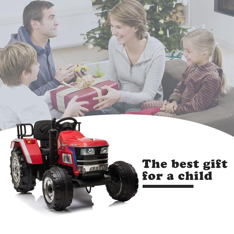 12V Kids Ride On Tractor with Remote Control for 3-6 Years, Red kids ride on tractor with remote control red 18