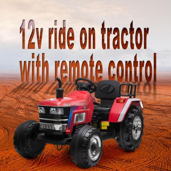 12V Kids Ride On Tractor with Remote Control for 3-6 Years, Red kids ride on tractor with remote control red 25