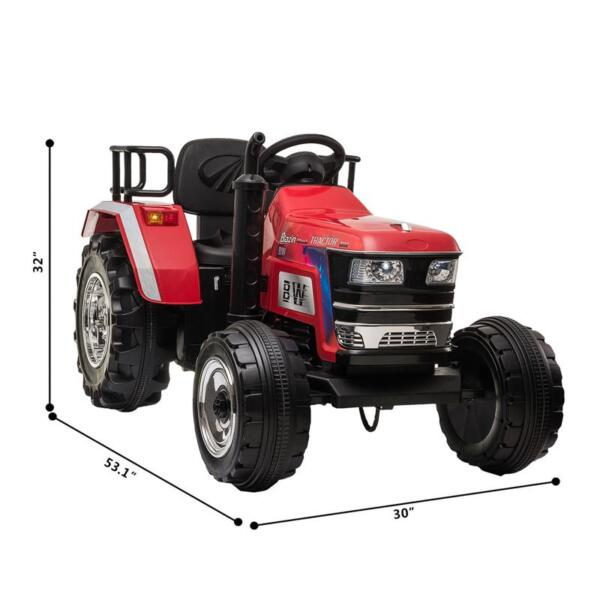 12V Kids Ride On Tractor with Remote Control for 3-6 Years, Red kids ride on tractor with remote control red 8 1