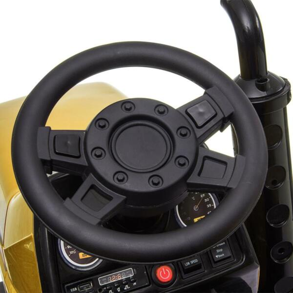 12V Kids Ride On Tractor with Remote Control for 3-6 Years, Yellow kids ride on tractor with remote control yellow 10