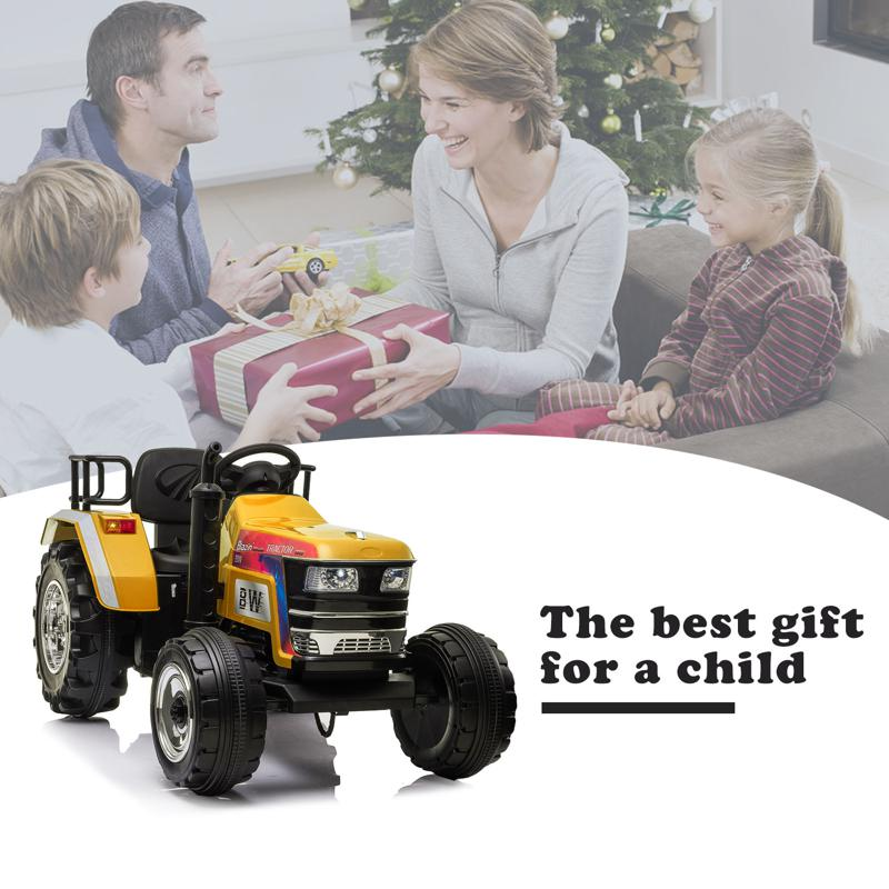 12V Kids Ride On Tractor with Remote Control for 3-6 Years, Yellow kids ride on tractor with remote control yellow 18 1