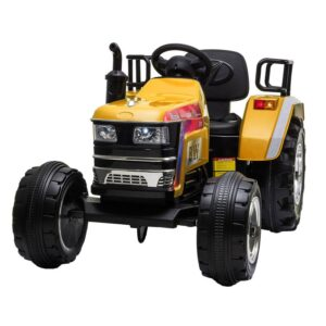 Home kids ride on tractor with remote control yellow 2 kids electric cars