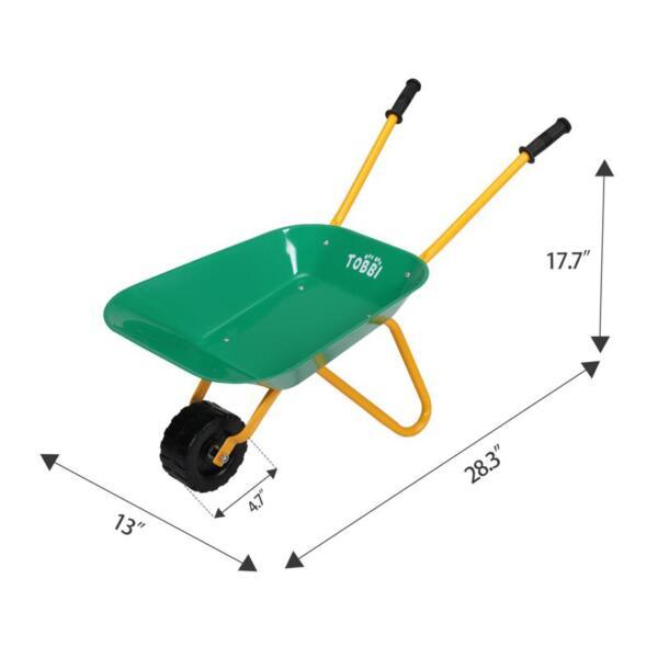 Kids WheelBarrows with Garden Carts, Green kids wheel barrows and garden carts green 11