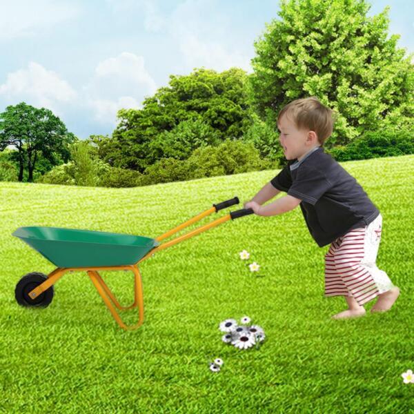 Kids WheelBarrows with Garden Carts, Green kids wheel barrows and garden carts green 12