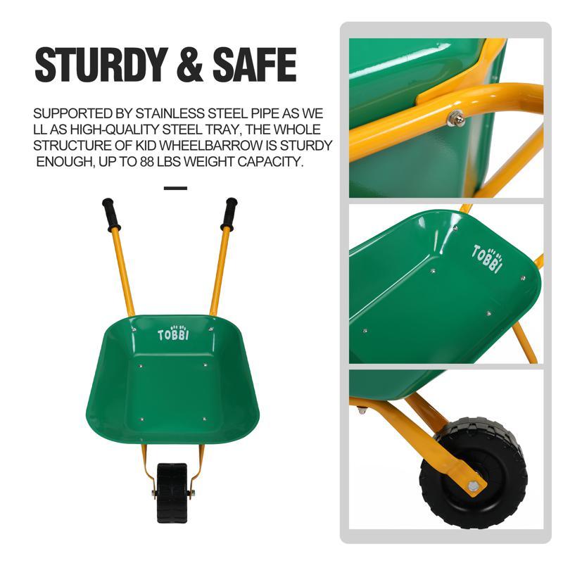 Kids WheelBarrows with Garden Carts, Green kids wheel barrows and garden carts green 26 1