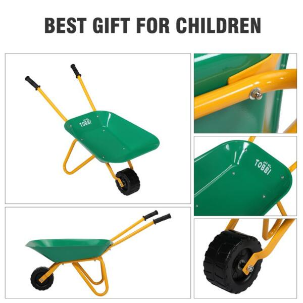 Kids WheelBarrows with Garden Carts, Green kids wheel barrows and garden carts green 29
