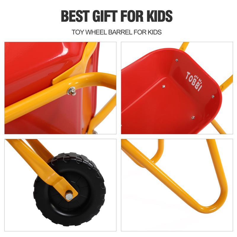 Kids WheelBarrows with Garden Carts, Red kids wheel barrows and garden carts red 26 1