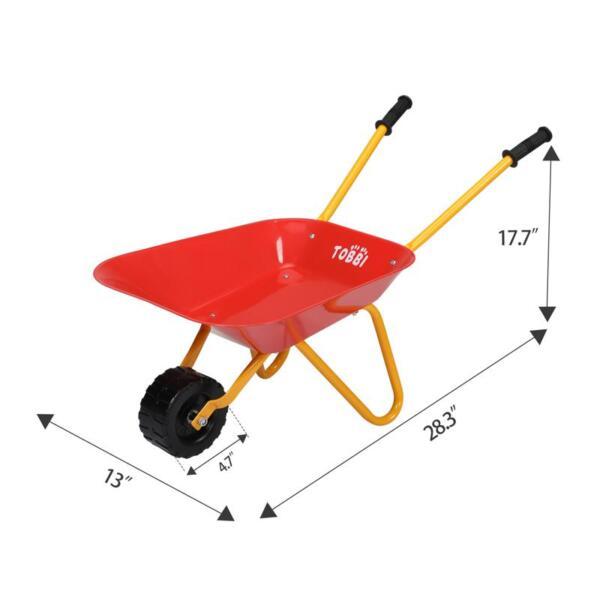 Kids Wheel Barrows and Garden Carts, Red kids wheel barrows and garden carts red 9
