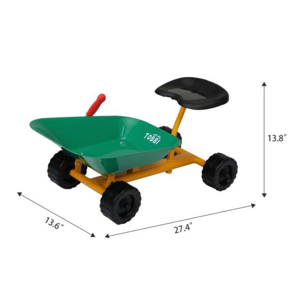 Outdoor Kids Play Wheelbarrow, Green kids wheelbarrow outdoor kids wheel green 11