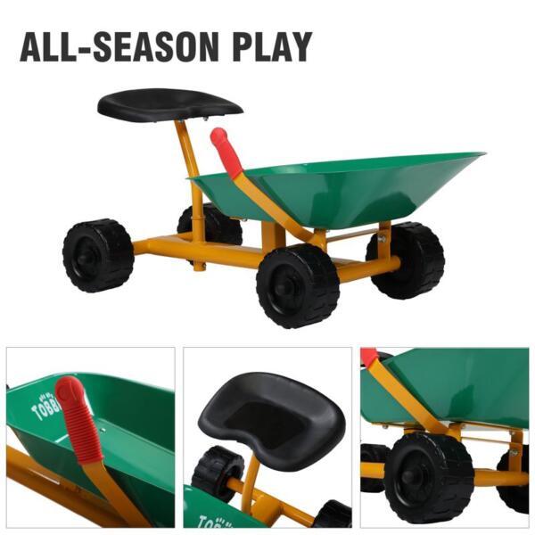 Outdoor Kids Play Wheelbarrow, Green kids wheelbarrow outdoor kids wheel green 26