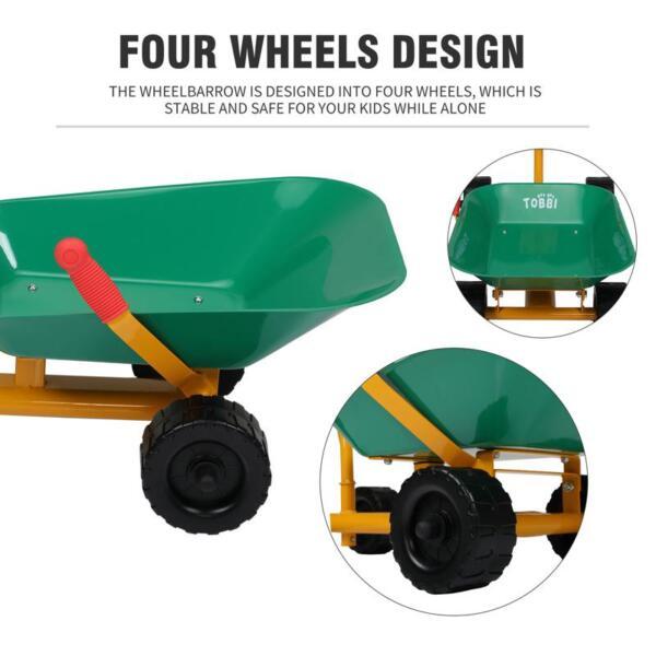 Outdoor Kids Play Wheelbarrow, Green kids wheelbarrow outdoor kids wheel green 28