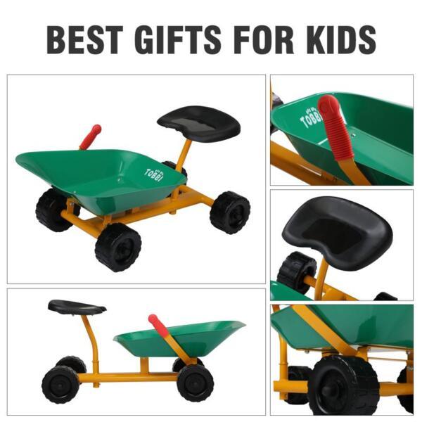 Outdoor Kids Play Wheelbarrow, Green kids wheelbarrow outdoor kids wheel green 29
