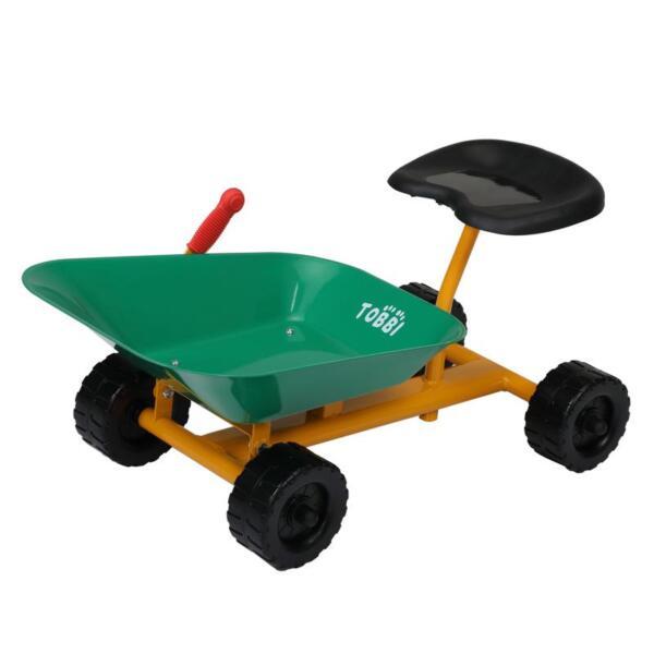 Outdoor Kids Play Wheelbarrow, Green kids wheelbarrow outdoor kids wheel green 9