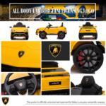 12V Lamborghini Ride On Car With Remote Control, Yellow lamborghini 12v urus kids ride on car yellow 0