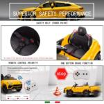 12V Lamborghini Ride On Car With Remote Control, Yellow lamborghini 12v urus kids ride on car yellow 2