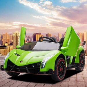 Home lamborghini veneno 12v kids ride on car green 18 kids electric cars