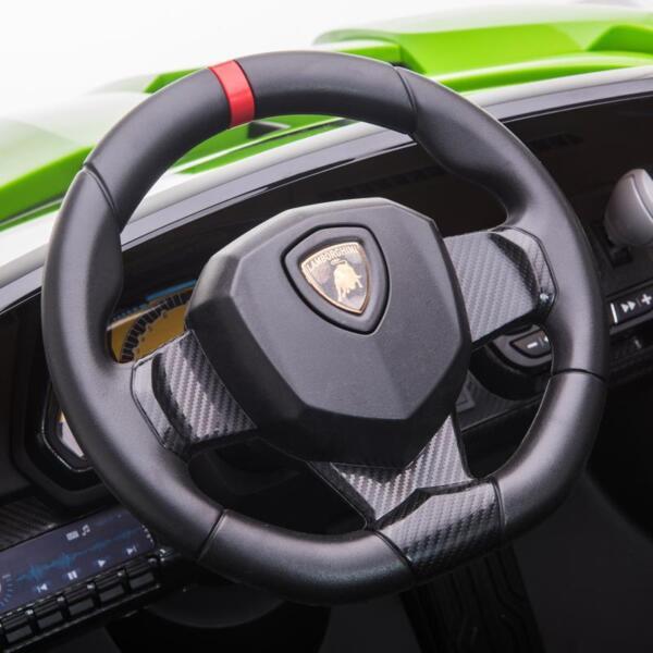 12V Lamborghini Ride On Car With Remote Control 2 Seater, Green lamborghini veneno 12v kids ride on car green 27