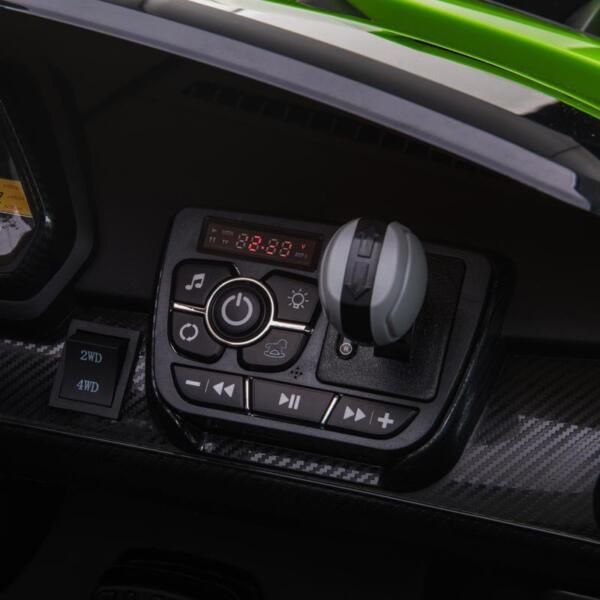 12V Lamborghini Ride On Car With Remote Control 2 Seater, Green lamborghini veneno 12v kids ride on car green 28