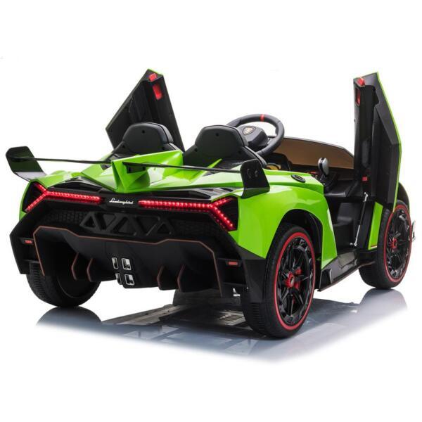 12V Lamborghini Ride On Car With Remote Control 2 Seater, Green lamborghini veneno 12v kids ride on car green 3