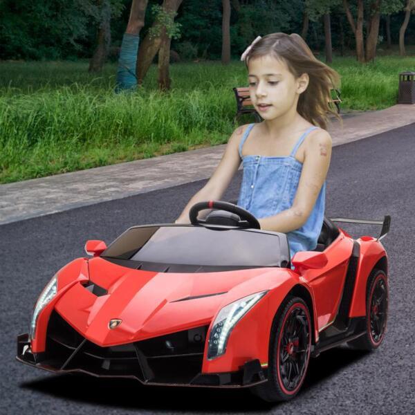 Lamborghini Veneno 12V Kids Ride On Car, Red lamborghini veneno 12v kids ride on car red 21