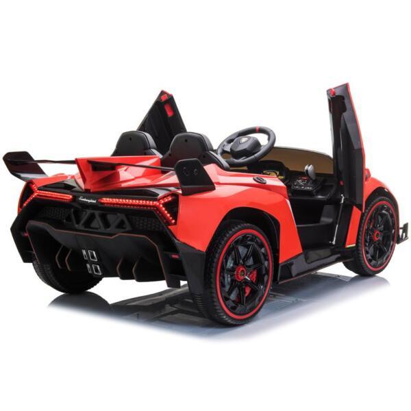 12V Lamborghini Ride On Car With Remote Control 2 Seater, Red lamborghini veneno 12v kids ride on car red 3