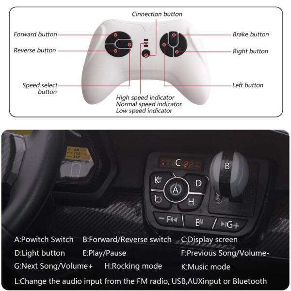 12V Lamborghini Ride On Car With Remote Control 2 Seater, Red lamborghini veneno 12v kids ride on car red 30 1