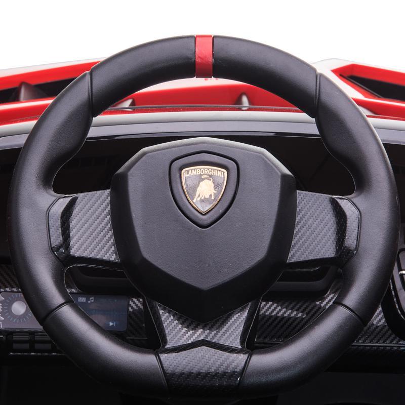 12V Lamborghini Ride On Car With Remote Control 2 Seater, Red lamborghini veneno 12v kids ride on car red 35 1