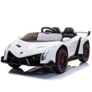 Home lamborghini veneno 12v kids ride on car white 0 kids electric cars