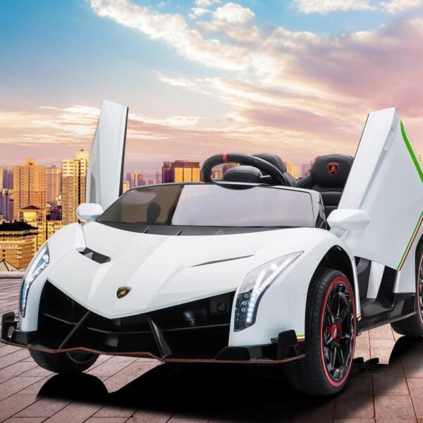 Lamborghini Veneno 12V Kids Ride On Car , White lamborghini veneno 12v kids ride on car white 21