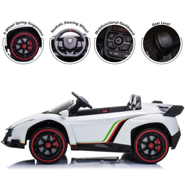 Lamborghini Veneno 12V Kids Ride On Car , White lamborghini veneno 12v kids ride on car white 29