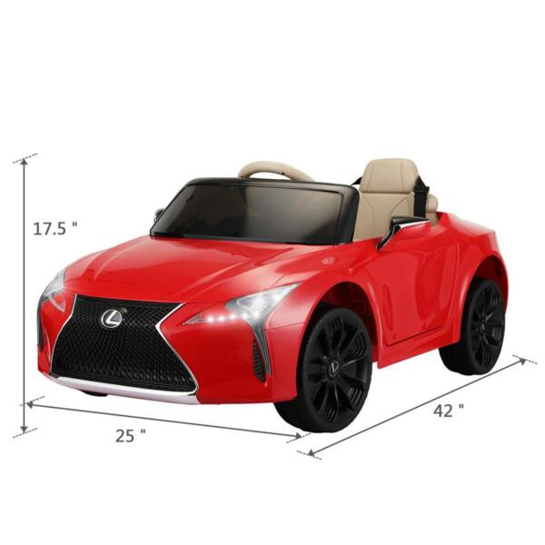 Lexus Licensed LC500 Electric Vehicle, Red lexus licensed lc500 electric vehicle red 17 1