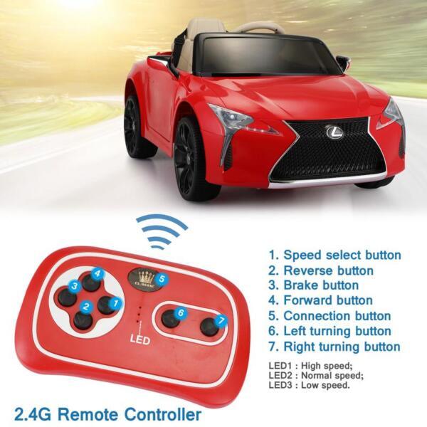 Lexus Licensed LC500 Electric Vehicle, Red lexus licensed lc500 electric vehicle red 34 1