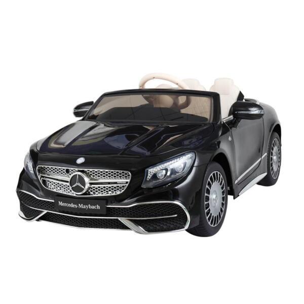 Licensed Mercedes-Benz S650 12V Ride on Car for Kids, Black licensed maybach s650 12v ride on car for kids black 13