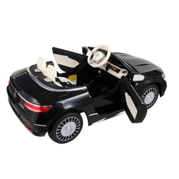 Licensed Mercedes-Benz S650 12V Ride on Car for Kids, Black licensed maybach s650 12v ride on car for kids black 15