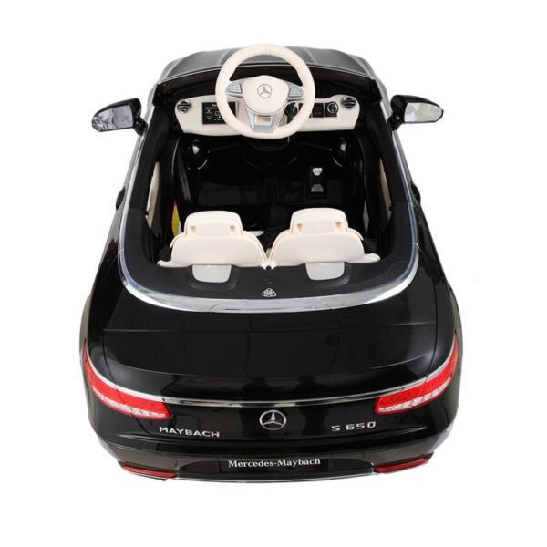 Licensed Mercedes-Benz S650 12V Ride on Car for Kids, Black licensed maybach s650 12v ride on car for kids black 18 1
